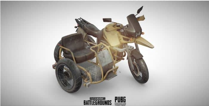 мотоцикл с коляской в PUBG