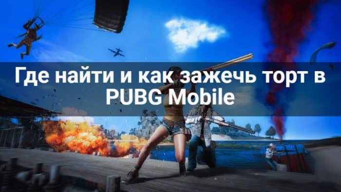 торт в PUBG Mobile