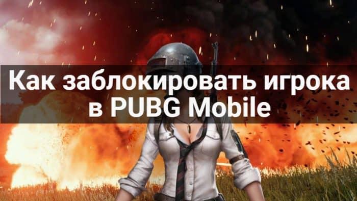 Как заблокировать игрока в PUBG Mobile