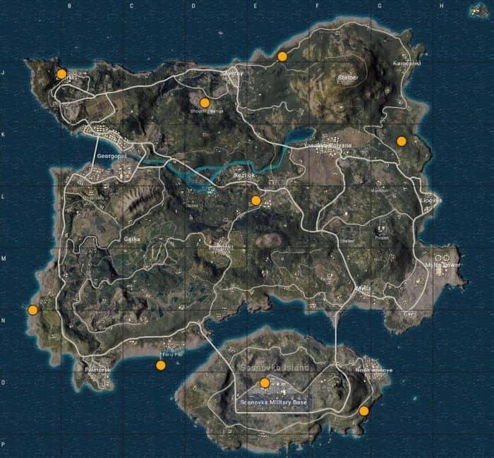 ракетница pubg карта