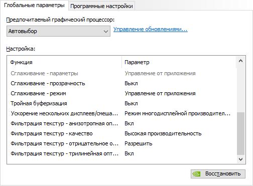 Настройки NVIDIA для PUBG